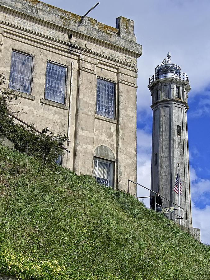 Alcatraz Cell House And Lighthouse Photograph