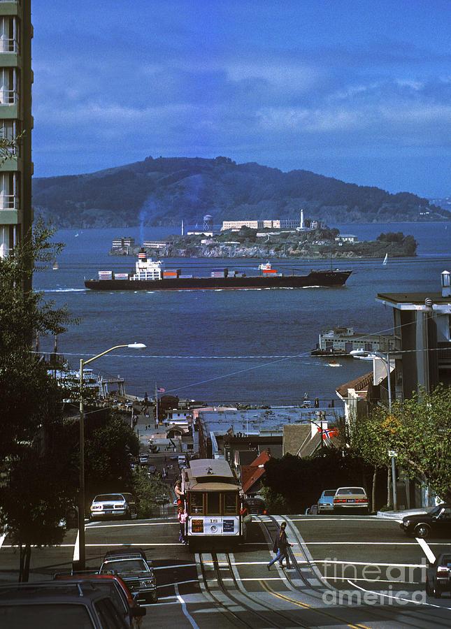 Alcatraz From San Fran Hilltop Photograph