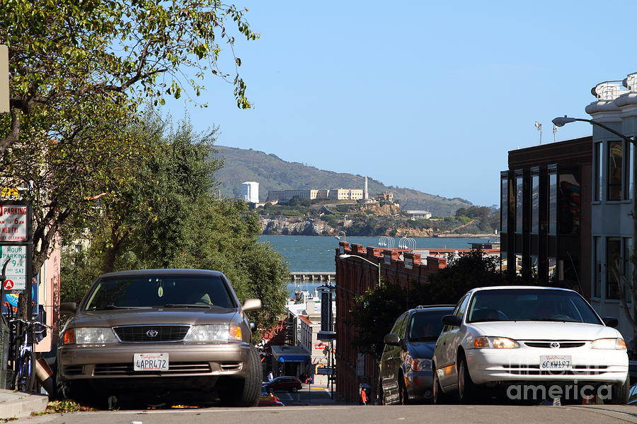 Alcatraz Island Through The Hyde Street Pier In San Francisco California . 7d13973 Photograph