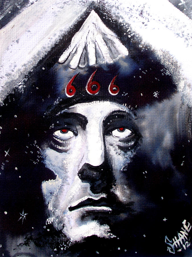 Aleister Crowley Space In Time With The Great Beast Painting