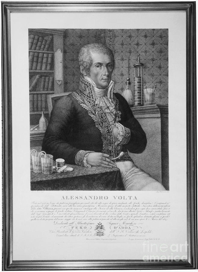 Alessandro Volta, Italian Physicist Photograph