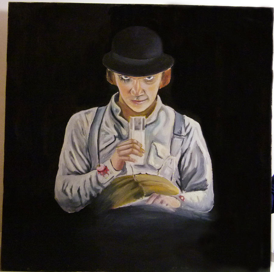 Alex Delarge Painting by Francisco Ramirez