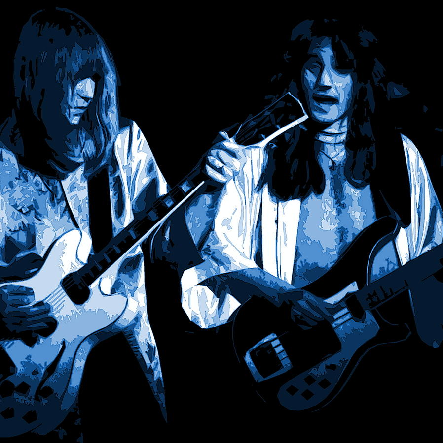 Alex Lifeson And Geddy Lee In Spokane 1977 D Photograph  - Alex Lifeson And Geddy Lee In Spokane 1977 D Fine Art Print