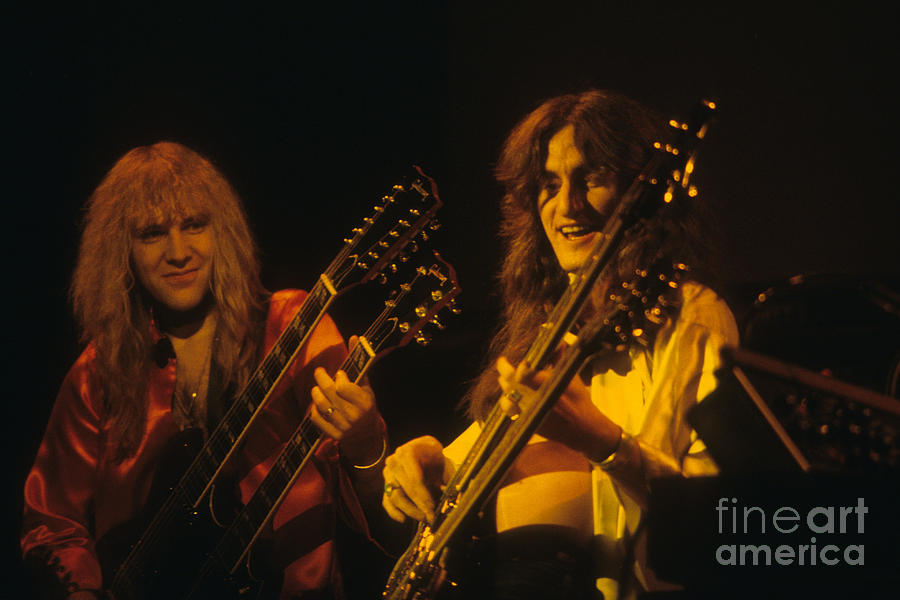 Alex Lifeson And Geddy Lee Photograph  - Alex Lifeson And Geddy Lee Fine Art Print