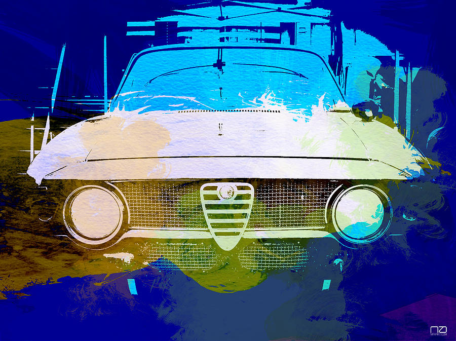 Alfa Romeo Watercolor Photograph  - Alfa Romeo Watercolor Fine Art Print