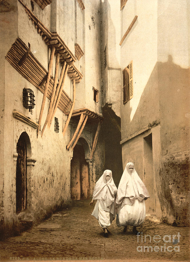 Algeria: Street Scene, C1899 Photograph