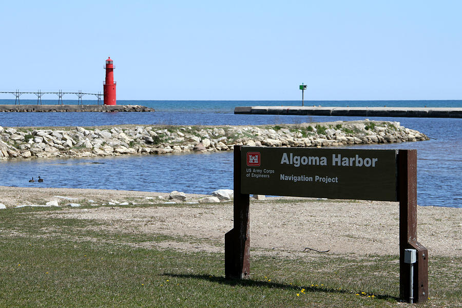 Algoma Harbor Lighthouse Photograph  - Algoma Harbor Lighthouse Fine Art Print