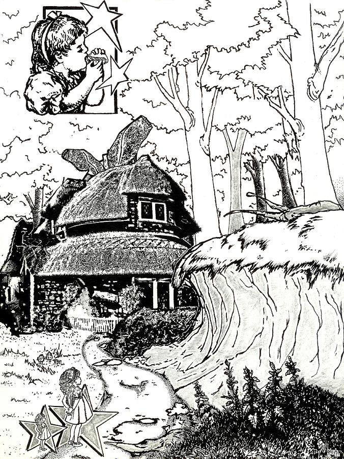 Alice At The March Hares House Drawing