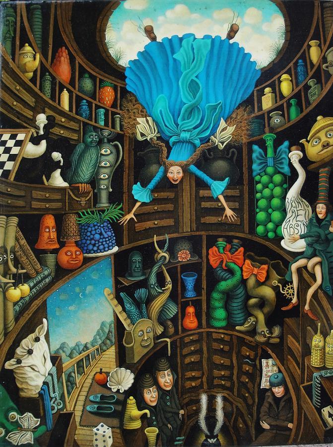 Alice Down the Rabbit Hole Art