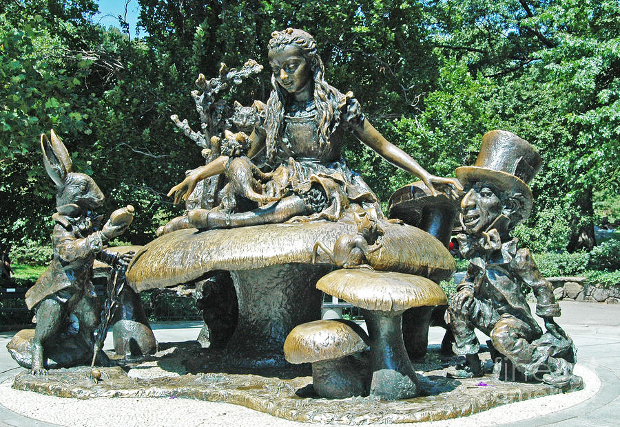 Alice In Wonderland In Central Park Photograph
