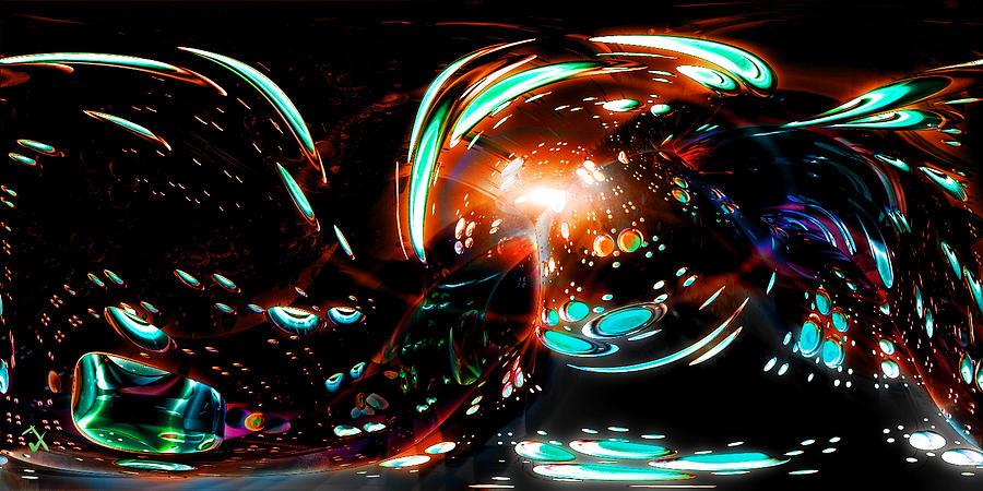Cave Painting - Alien Cave 2 by Adam Vance