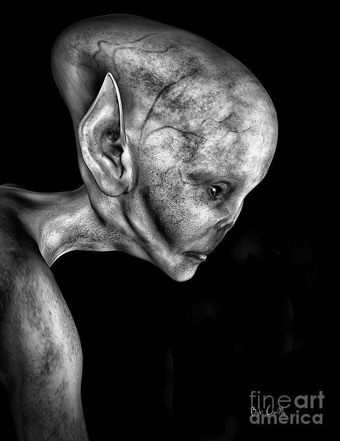 Alien Portrait  Digital Art