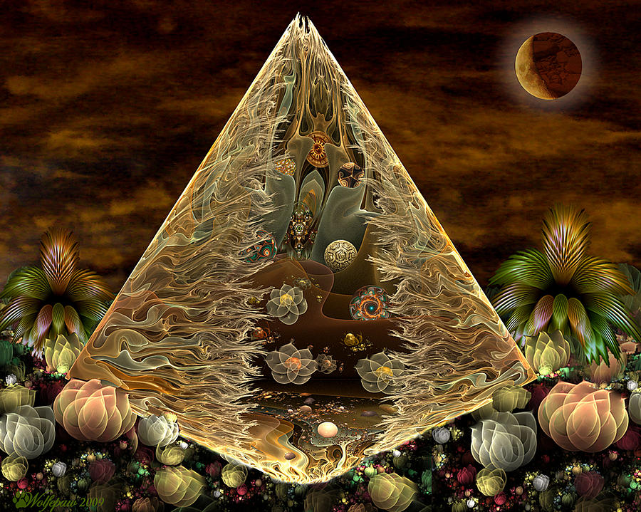 Alien Pyramid Digital Art