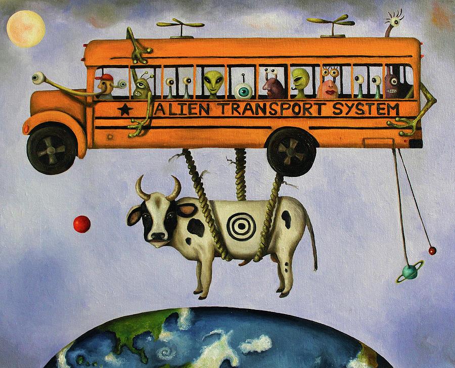 Alien Transport System Painting