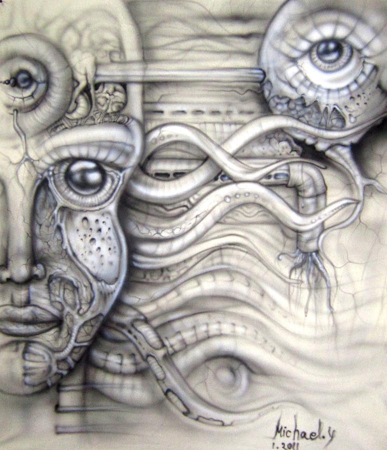 Alien Woman Painting