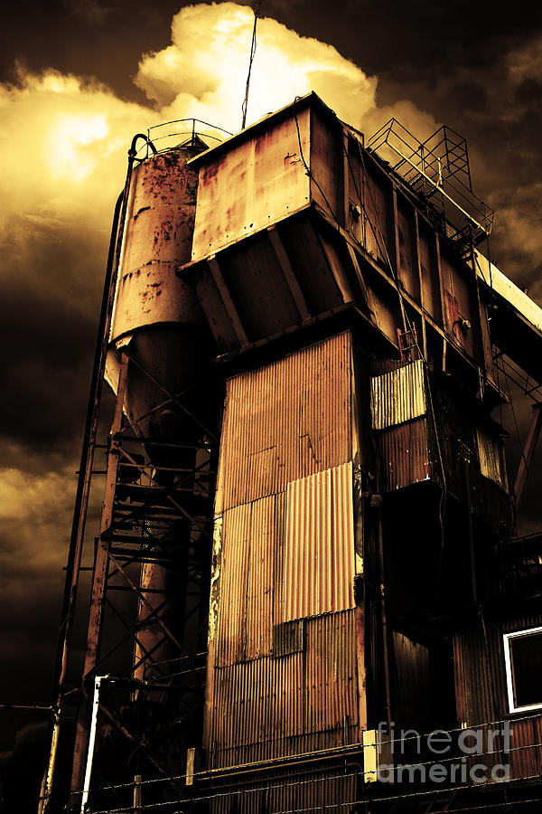 Alive And Well In America . The Old Concrete Plant In Berkeley California . Golden . 7d13967 Photograph  - Alive And Well In America . The Old Concrete Plant In Berkeley California . Golden . 7d13967 Fine Art Print