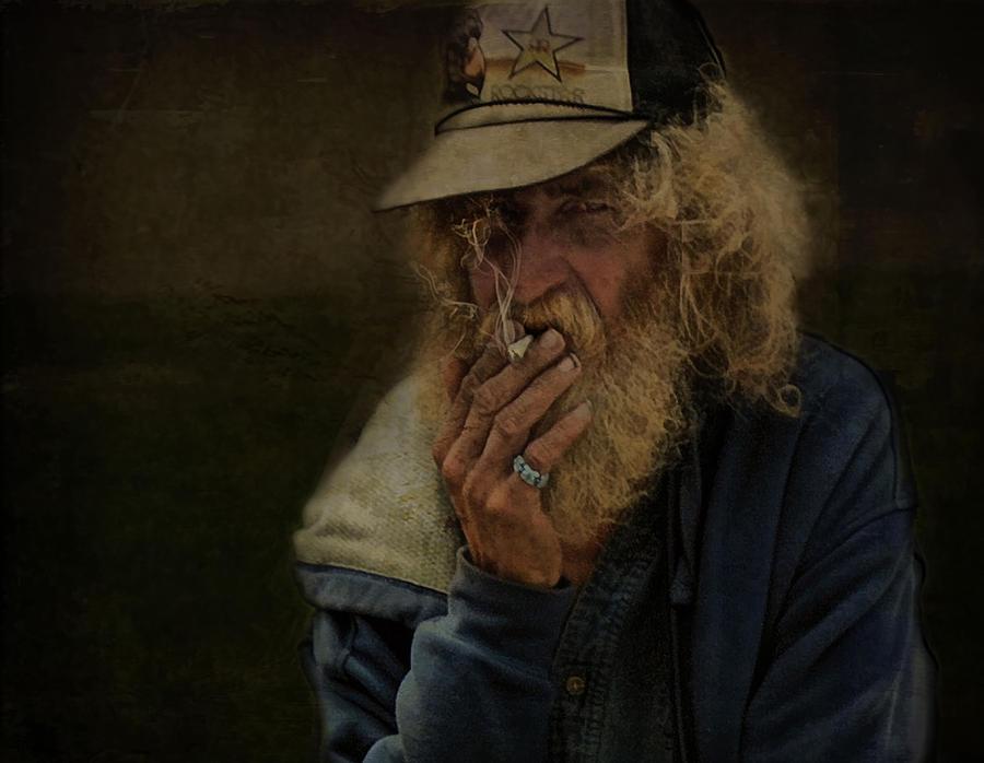 Homeless Photograph - Alive Yet Dead I Walk Alone .... by Bob Kramer