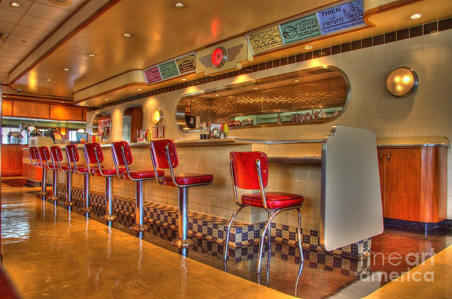 Rubys Photograph - All American Diner 2 by Bob Christopher