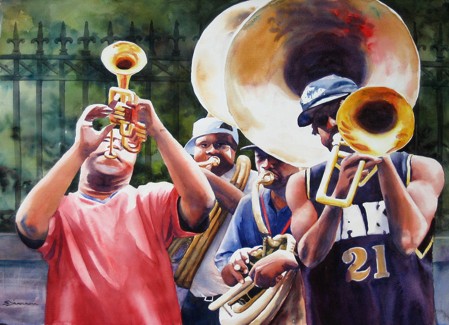 All Brass Painting  - All Brass Fine Art Print