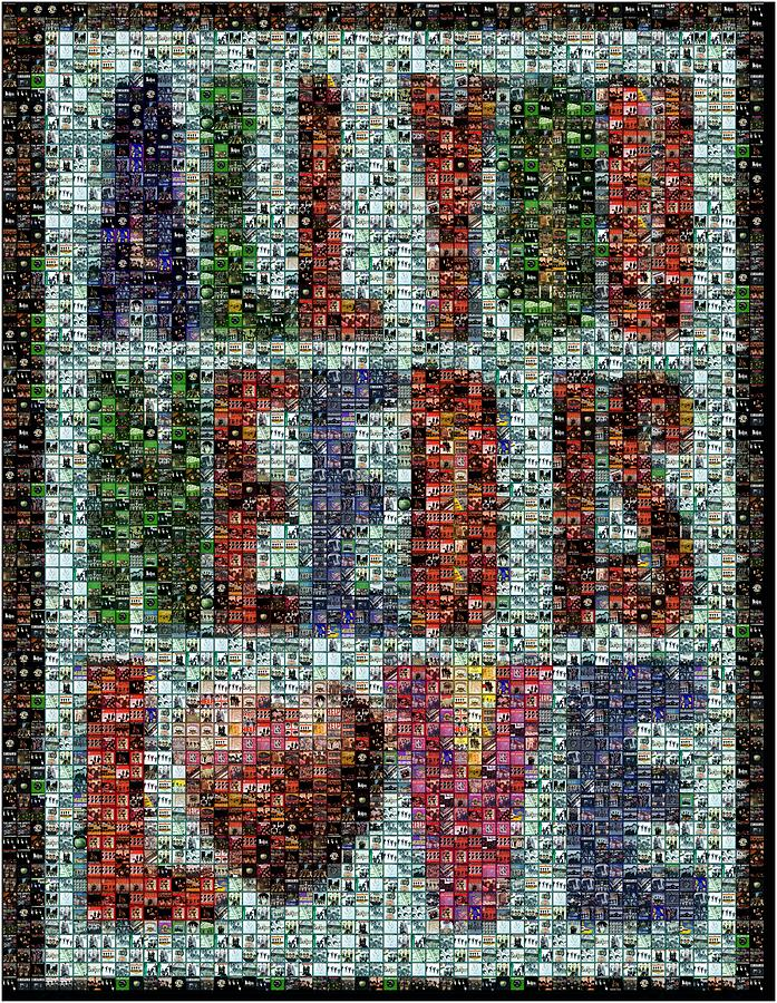 All You Need Is Love Mosaic Digital Art  - All You Need Is Love Mosaic Fine Art Print
