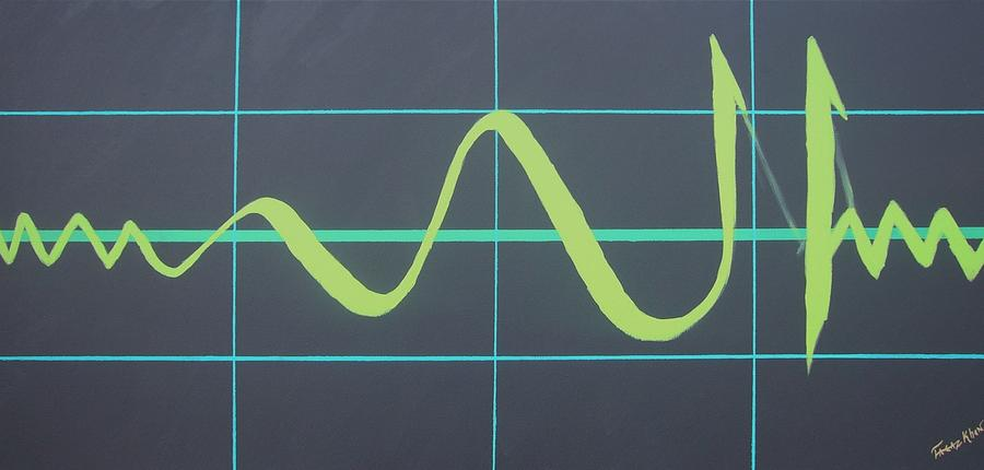 Allah In Cardiograph Painting
