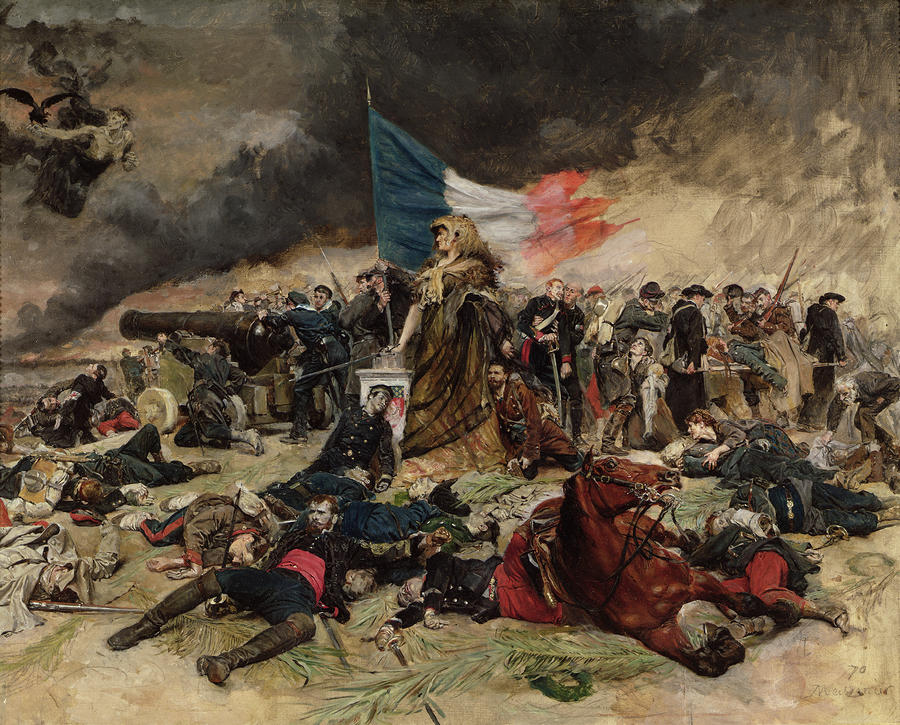 Allegory Of The Siege Of Paris Painting