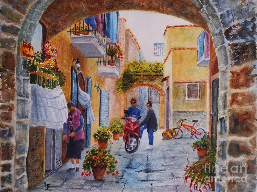 Alley Chat Painting  - Alley Chat Fine Art Print