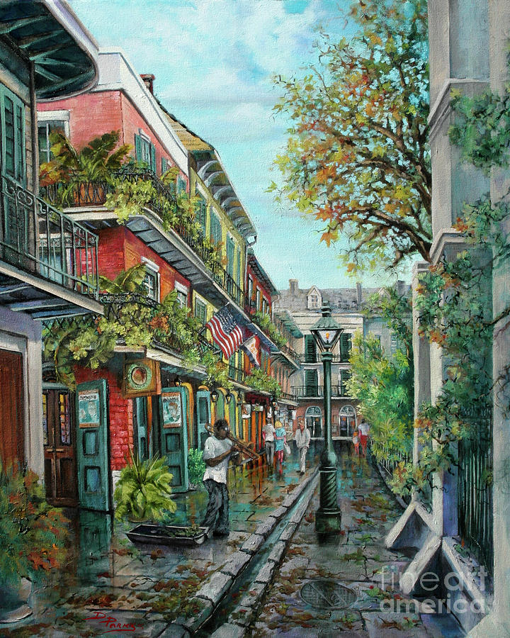 Alley Jazz Painting  - Alley Jazz Fine Art Print