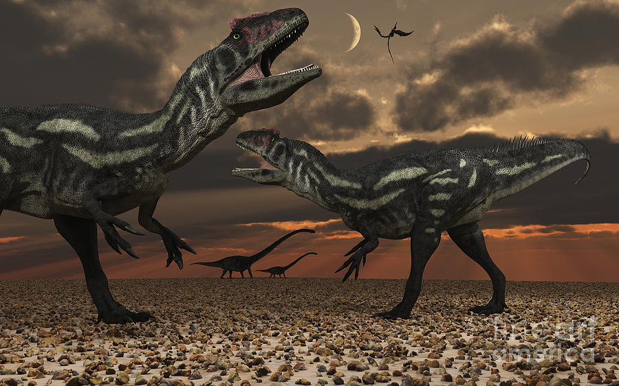 Allosaurus Dinosaurs Stalk Their Next Digital Art
