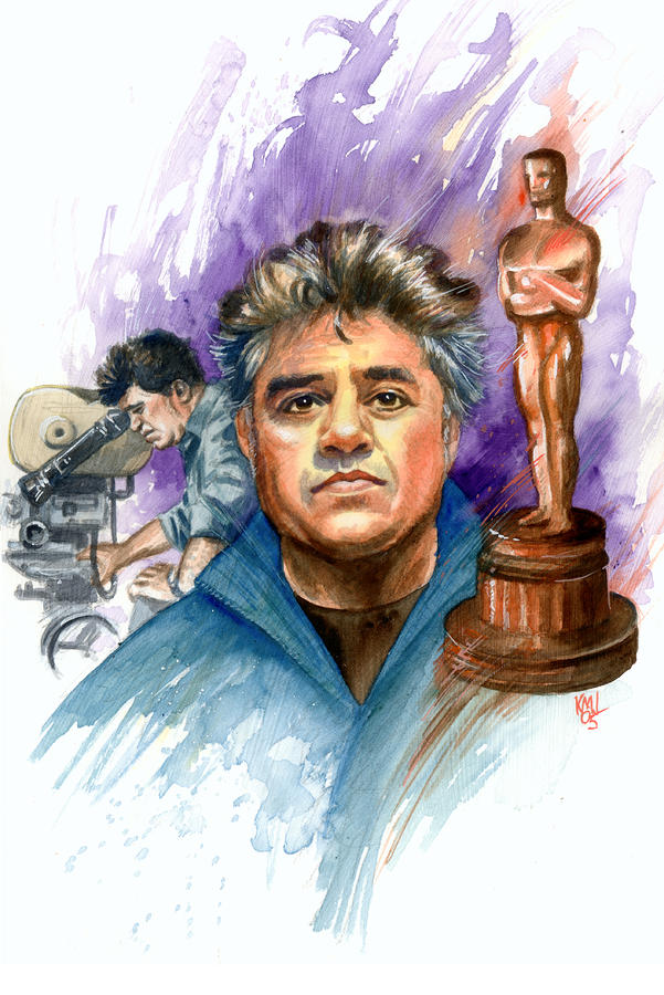 Filmmakers Painting - Almodovar by Ken Meyer jr