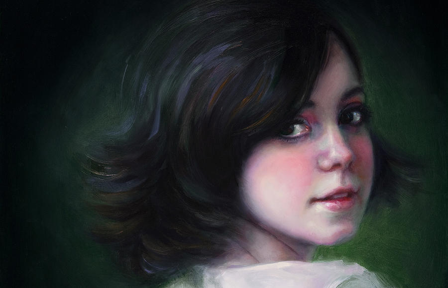 Girl Painting - Almost Ready-detail by Talya Johnson