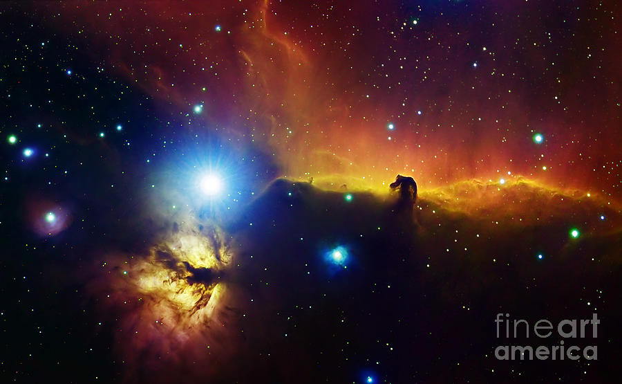 Alnitak Region In Orion Flame Nebula Photograph
