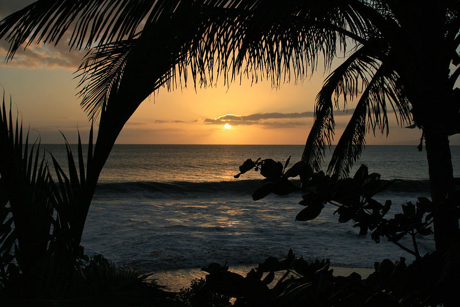 Aloha Aina The Beloved Land - Sunset Kamaole Beach Kihei Maui Hawaii Photograph