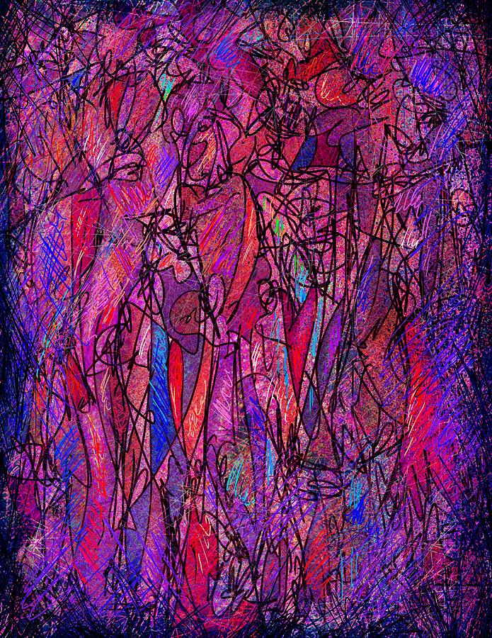 Alone In A Crowd Digital Art  - Alone In A Crowd Fine Art Print