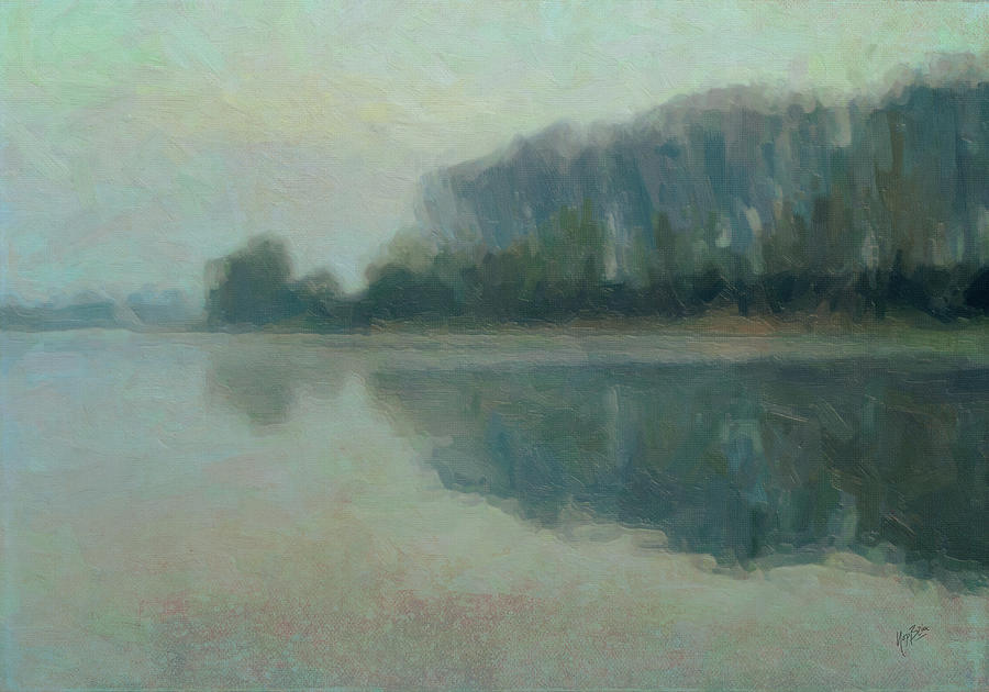 Along The Maas In Southern Limburg Painting  - Along The Maas In Southern Limburg Fine Art Print