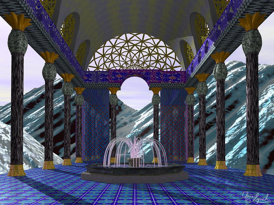 Landscape Digital Art - Alpen Temple by Christopher Lynch