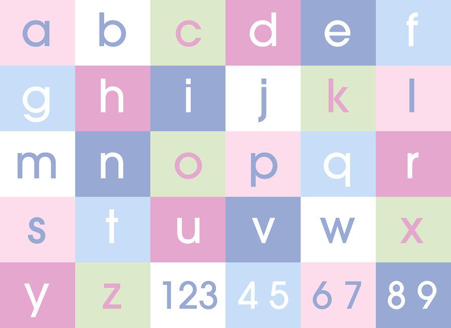 Alphabet Pastel Digital Art