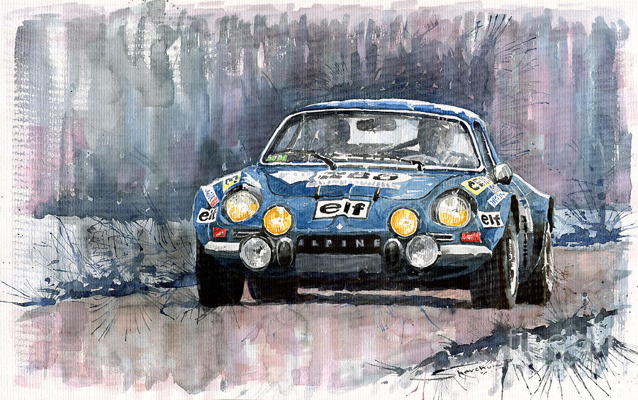 Alpine A 110 Painting