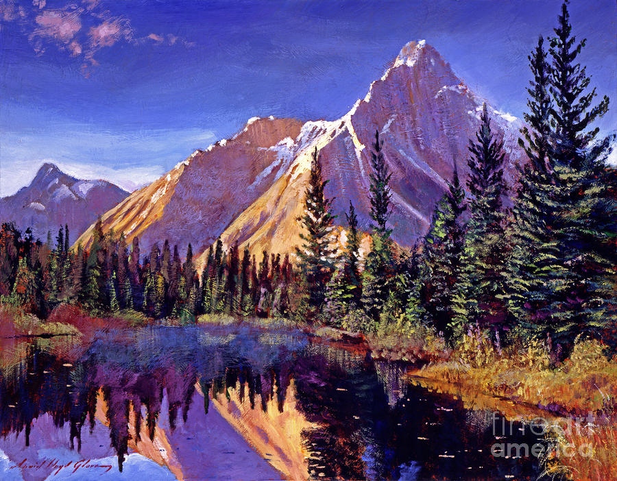 Alpine Lake Mist Painting