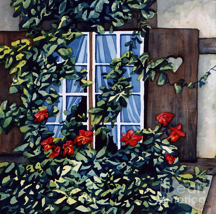Alsace Window Painting  - Alsace Window Fine Art Print