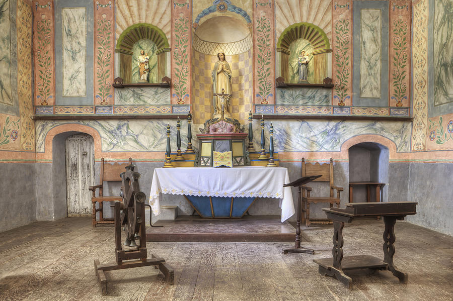 Altar At Mission La Purisima State Photograph