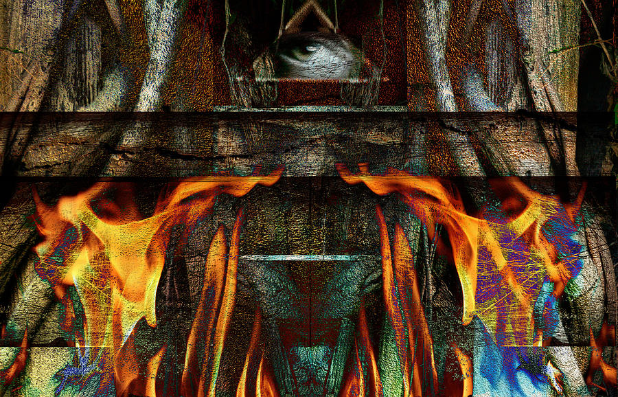 Balance Mixed Media - Altar by Janet Kearns