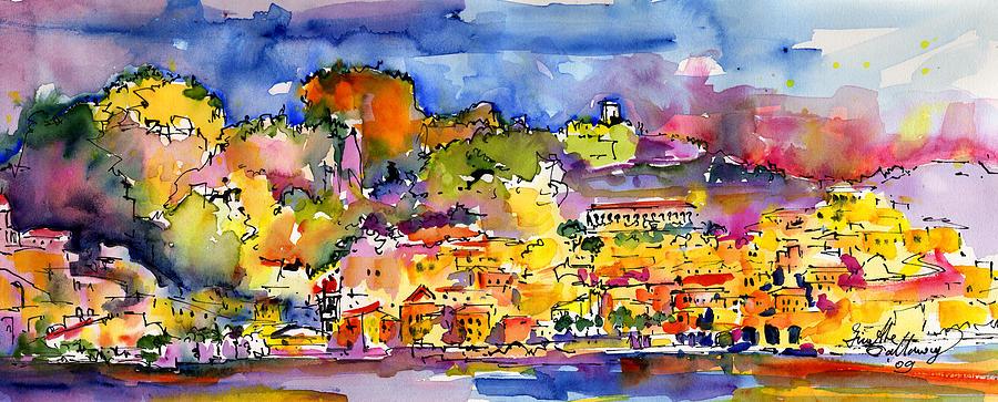 Amalfi Italy Coastline Travel Painting