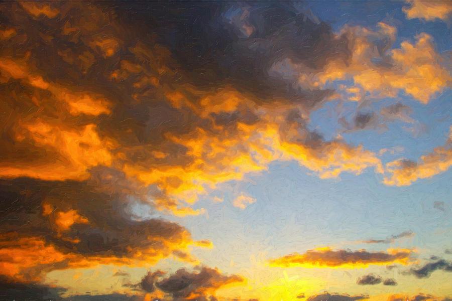 Amarillo Golden Sunset Painting