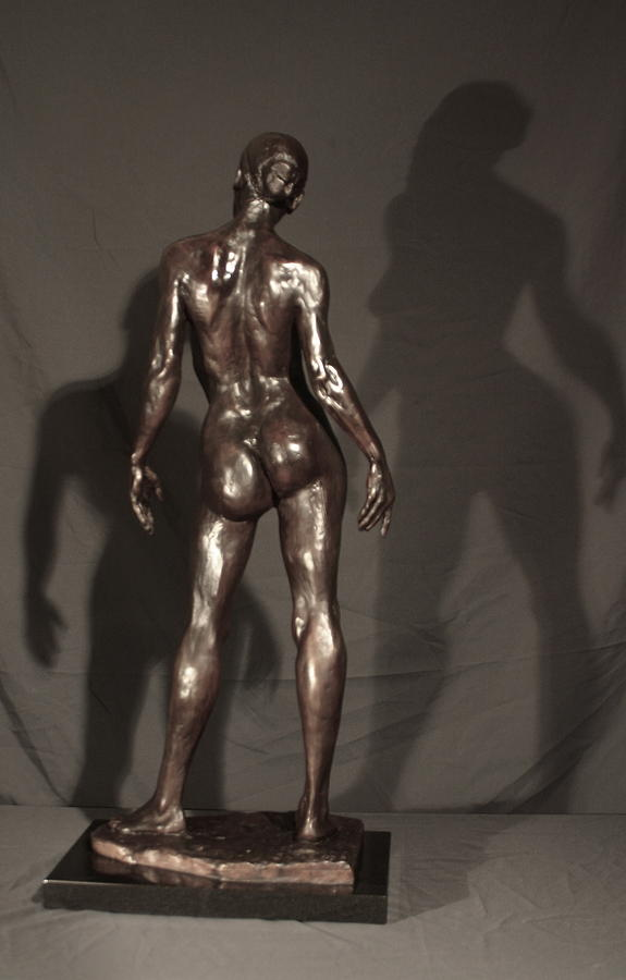 Amazing Grace Back View Sculpture  - Amazing Grace Back View Fine Art Print