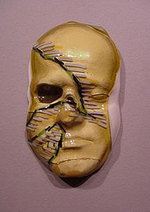Amber Face Sculpture