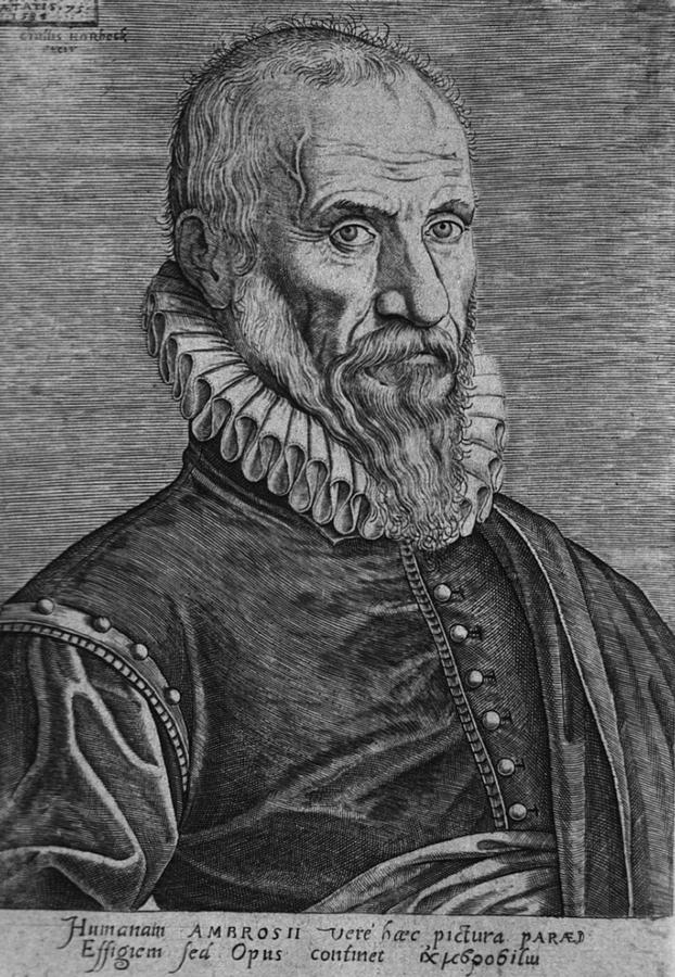 History Photograph - Ambroise Pare, The Great 16th Century by Everett