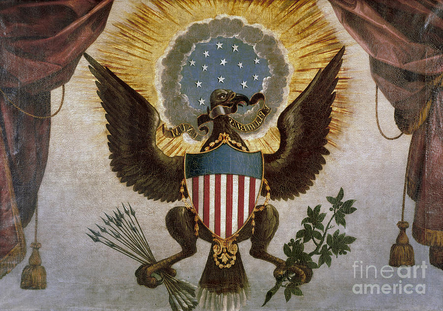 America - Great Seal Painting  - America - Great Seal Fine Art Print