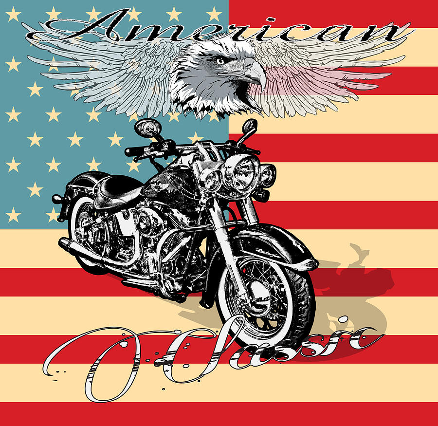 American classic harley by tim towler for Classic american images
