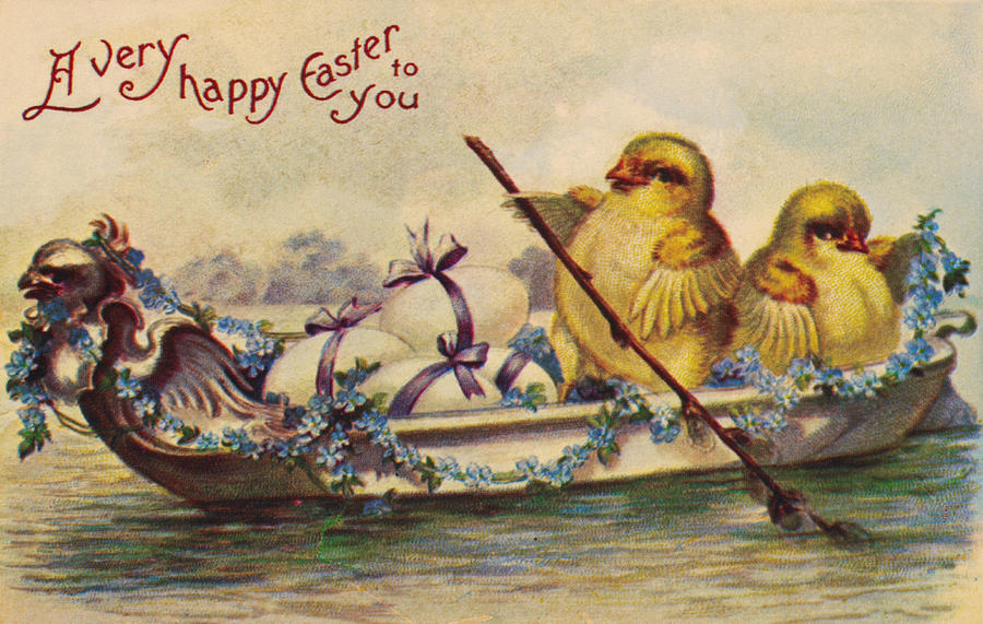 19th Century Photograph - American Easter Card by Granger